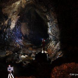 Kačna jama - pogled dolvodno proti brzicam