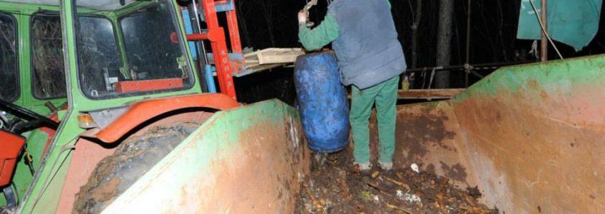 Čiščenje jame v Lesendolu