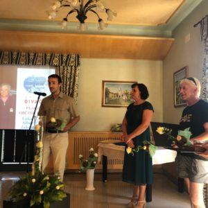 Luka Biščak v nagovoru občinstva. Foto: Mario Benkoč