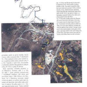 Češki georadarski posnetek smeri fosilnih rovov (avtor: Pavel Kalenda; v: Speleoforum journal, april 2018)