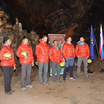 Tiskovna konferenca ESA v Divaški jami
